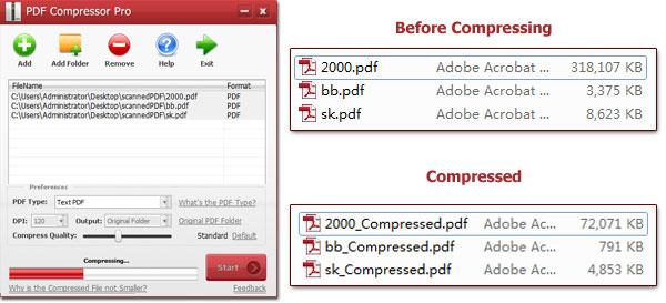 تقليص ملف بي دي اف من خلال pdf compressor